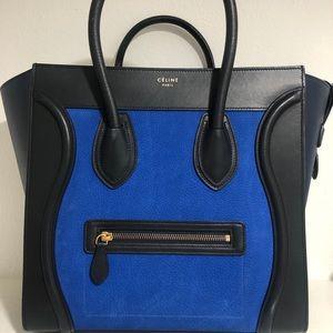 Celine lugs tri colour black and blue tote bag
